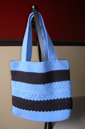 Brown n Blue Stylin' Tote